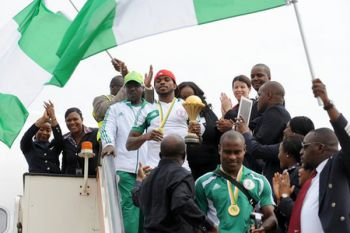Nigerians welcome Nations Cup winners home